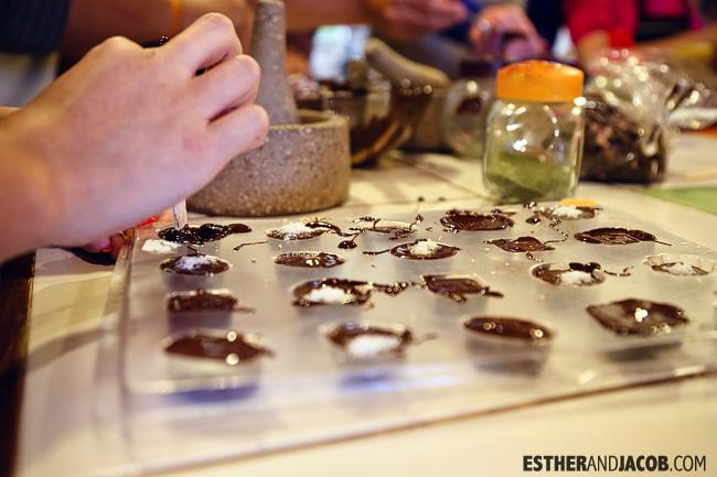 Making Chocolates at the Choco Museo / Chocolate Museum in Cusco Peru.