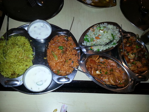 Mushroom Pulau, Vegetable Biriyani, Vegetable Fried Rice, Aloo Gobi Fry, Mushroom Fry