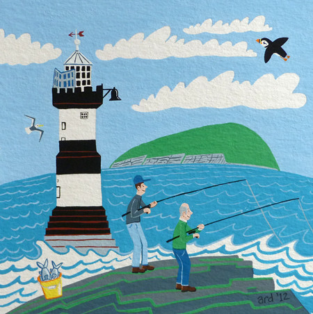 Penmon Lighthouse by ardillustration