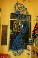 OMSI Sculpture in our bike shop - Local Voice Clever Choices campaign