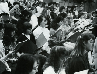 Choir rehearsal in 1988-89