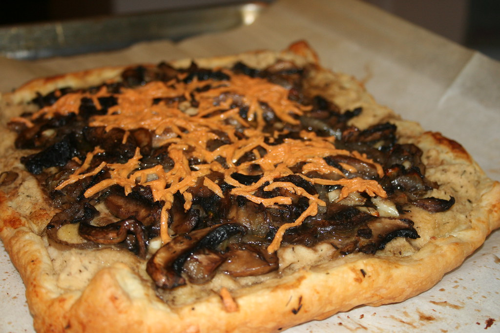 Mushroom and White Bean Tart