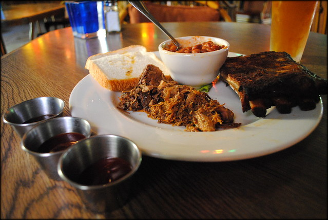 BBQ Sampler at Skyway Inn - Zigzag, Oregon