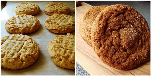 Peanut Butter Cookie & Ginger Molasses Cookie