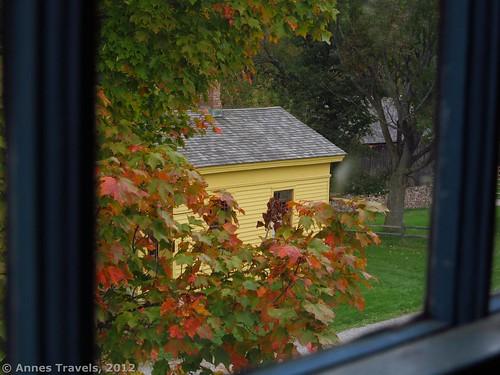 Looking out an upper window of Hosmer's Inn