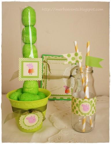 kit imprimbible Peppa Pig verde Merbo Events5