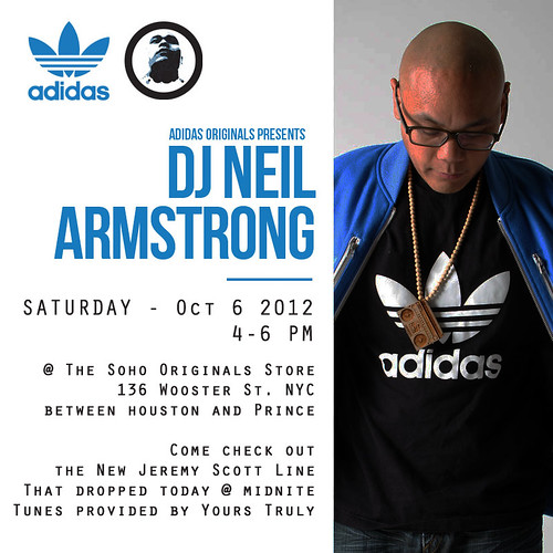 DJ Neil Armstrong @ adidas soho Store NYC