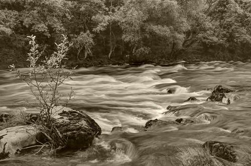 longexposure sepia wales river wye rhyader