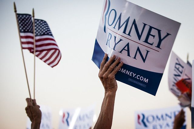 Romney and Ryan in Fisherville VA-1