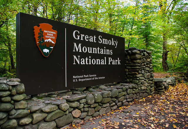 Great Smoky Mountain Park Sign