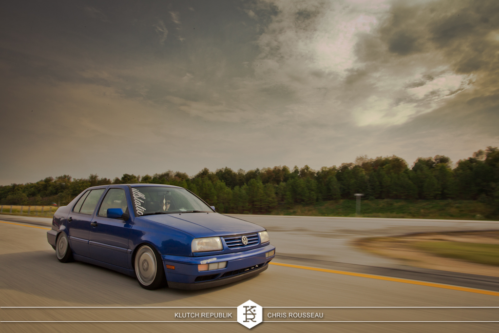 blue vw mk3 jetta gl gls vr6 2.0 illstatic mercedes wheels  at h2oi 2012 3pc wheels static airride low slammed coilovers stance stanced hellaflush poke tuck negative postive camber fitment fitted tire stretch laid out hard parked seen on klutch republik