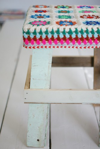 stool on the table by wood & wool stool