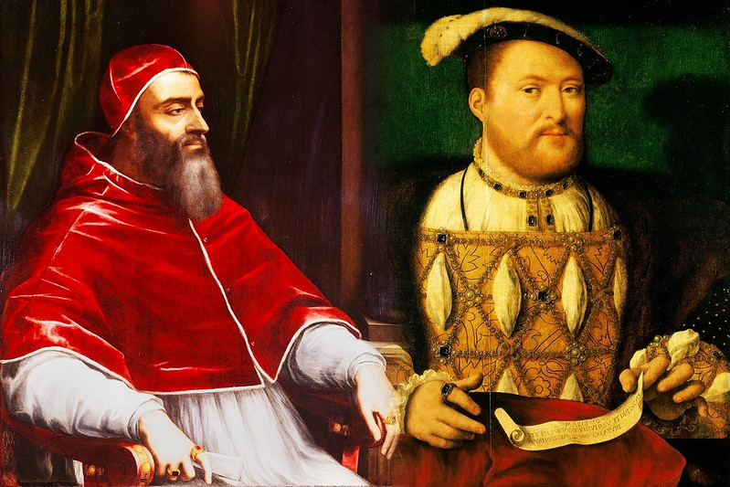king henry viii relationship with the pope