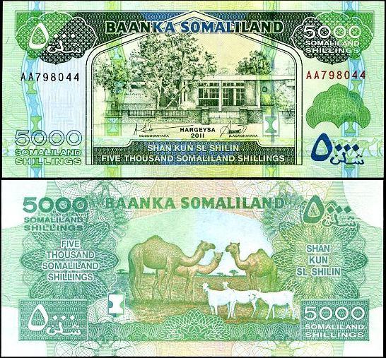 5000 Šilingov Somaliland 2011