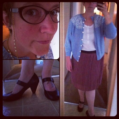 Dapper Day outfit. This is what I came up with on short notice (cause its not like I've known since February or anything) and on a budget. Does it work? What kind of purse would I need?