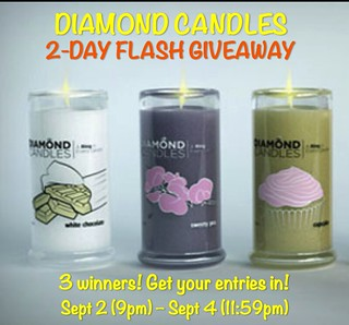 diamond candles flash giveaway