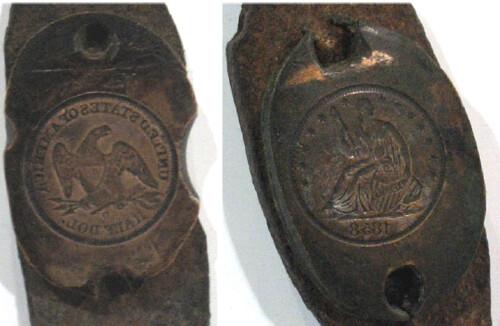 1858-O half dollar counterfeit dies2