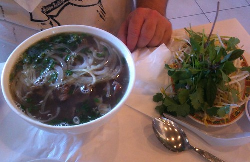 Sliced Rare Beef & Cooked Beef Brisket Pho (small - $10)