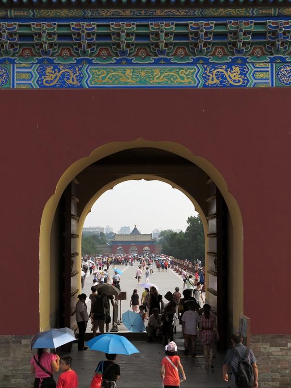 Foule de touristes au temple du ciel