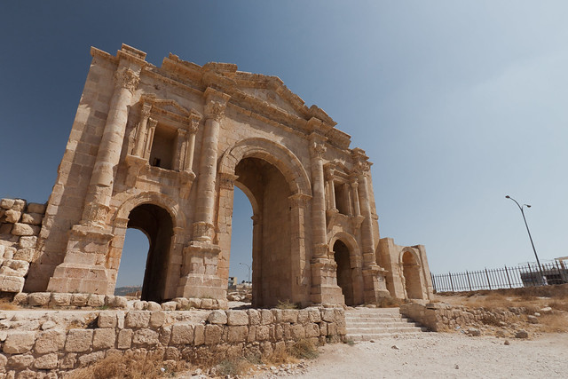 Hadrians Arch  At Jerash  By: oemebamo  Flickr - Photo ...