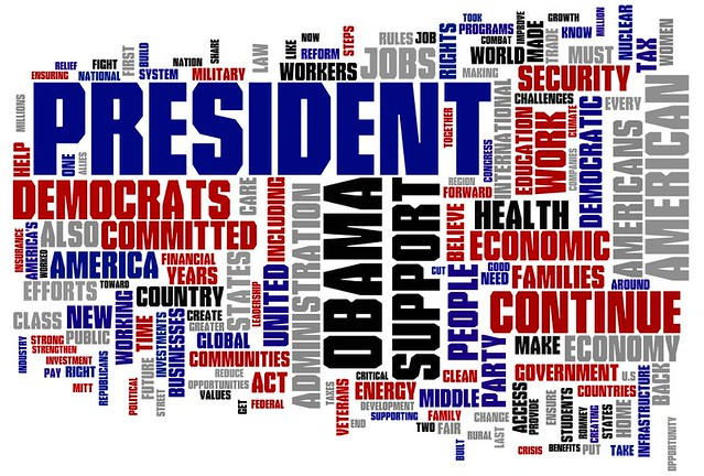 Moving America Forward - 2012 Democratic National Platform Wordle