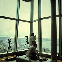 Our office for the day. At Sky100 again time lapsin' #hkig #discoverhongkong #skyline #hongkong #sky100