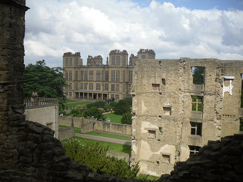 old and new Hardwick Hall