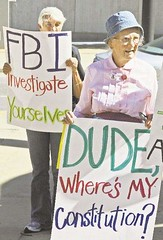 2010: Protested FBI raids on peace activists