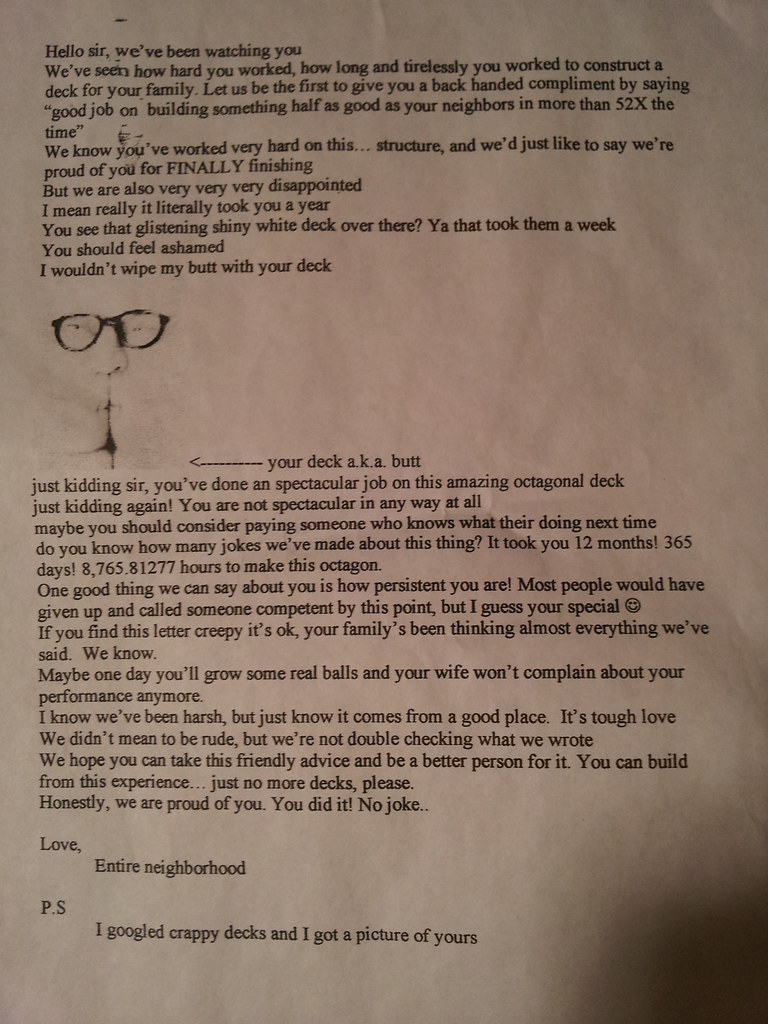 how to write a letter to a neighbor