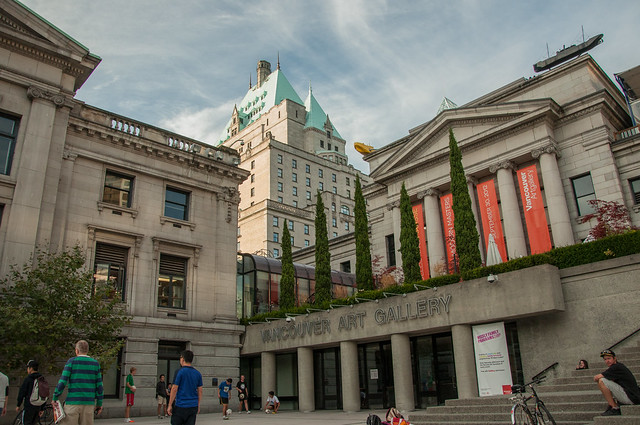 Vancouver BC Art Gallery  Fairmont Hotel