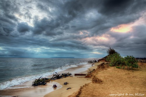 ocean sunset beach water clouds landscape island hawaii nikon scenery images kauai getty waimea niihau hdr d90