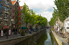 Canal dans le Red Light District