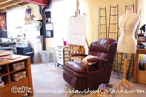 Studio-Easel and Chair