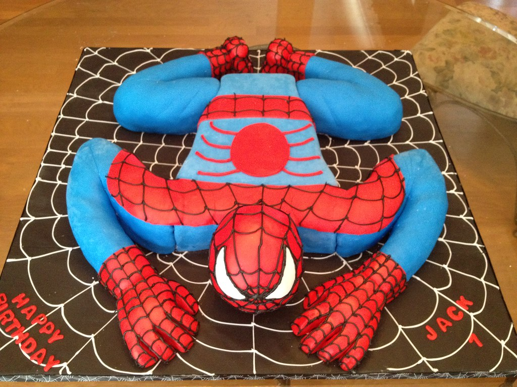 topsy turvy cake spidy 3 d view on flickr 8034
