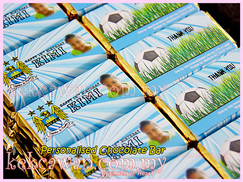 Personalised Choc Bar - Manchester City