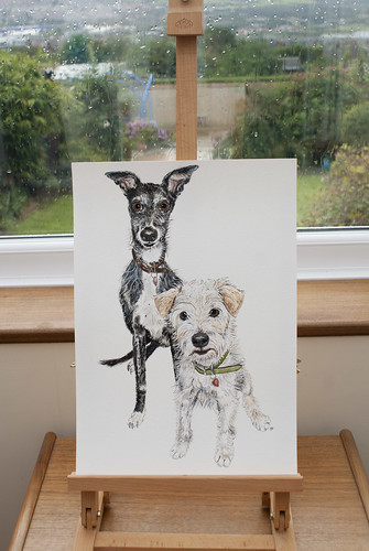 Alfie and Chaplin by jina11