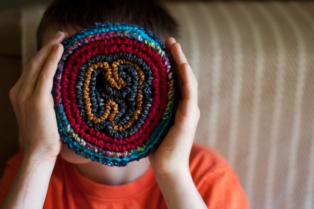 A first knitting project for children