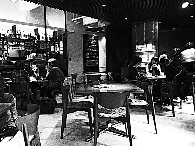 People of a cafe