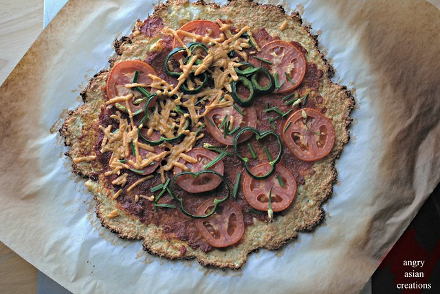 cauliflower crusted pizza