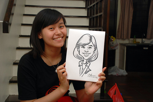 caricature live sketching for birthday party 10022012 - 2