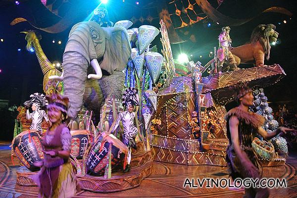 Beautiful display of song, dance and garish costumes