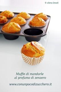 Muffin di mandorle al profumo di zenzero