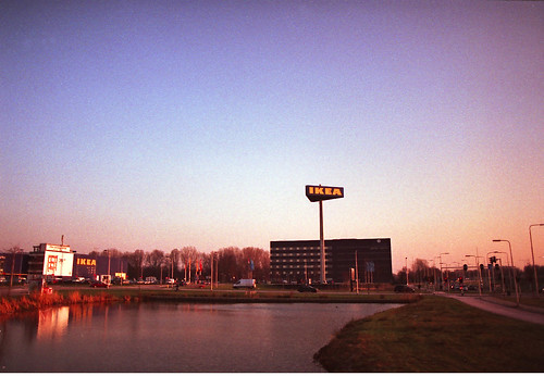 IKEA at sunset. Goodbye Delft!