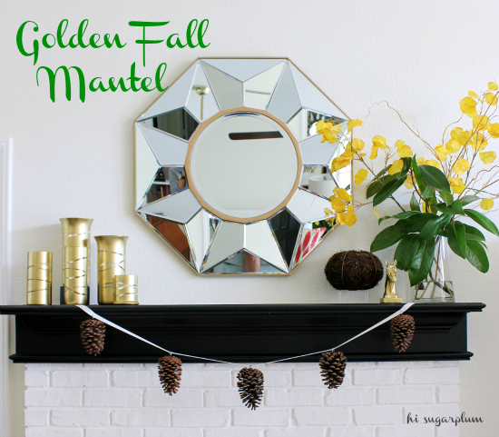 hi sugarplum fall mantel