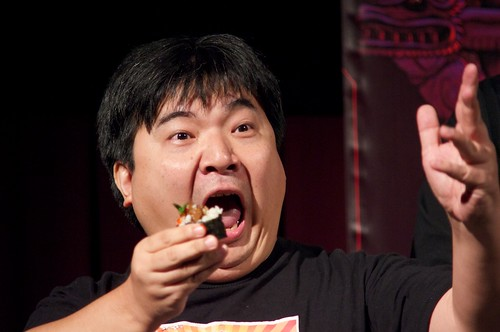 Noboru Iguchi Eating Bull Penis Sushi