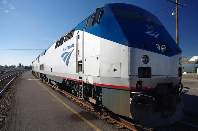 Locomotive Amtrak Coast Starlight train - Emeryville to Seattle