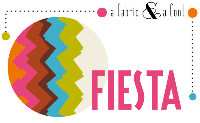 Fiesta + Spoonflower Chevron Border Print