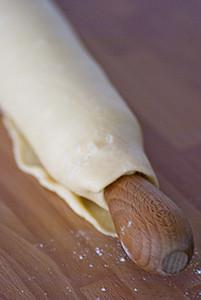 Pasta quebrada enrollada