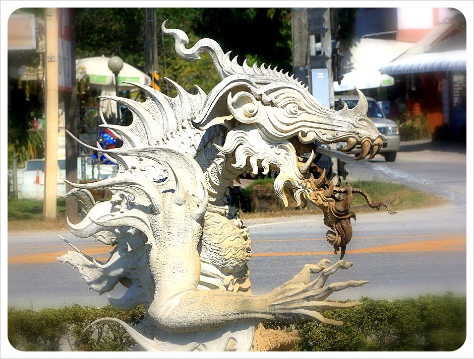 white temple dragon