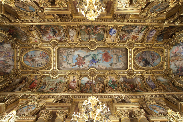 opera garnier paris france decorated ceiling flickr photo sharing. Black Bedroom Furniture Sets. Home Design Ideas